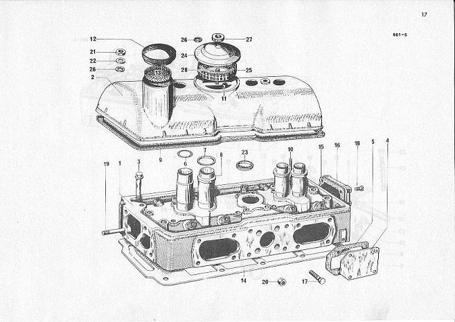cilinderhead  rubber for sparkplug tube
